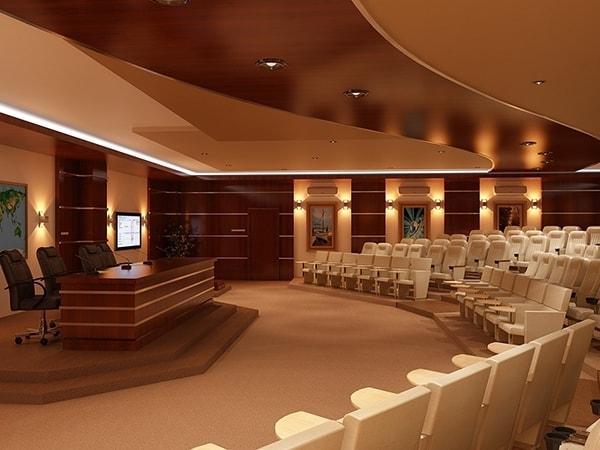Cách thiết kế 3 dãy ngồi chính của sân khấu hội trường 1