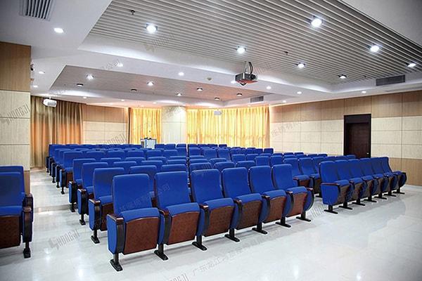 Ghế hội trường tông màu xanh