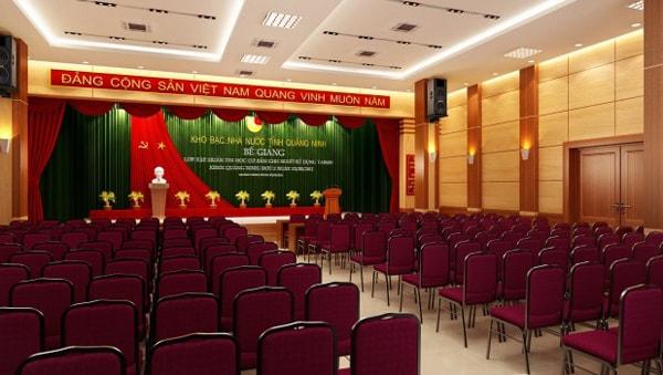 Kích thước nhỏ gọn, phù hợp mọi không gian của ghế hội trường giá rẻ của Hòa Phát khiến nhiều người lựa chọn