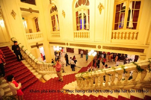 Nhà hát xây dựng phong cách kiến trúc thời kỳ Phục hưng