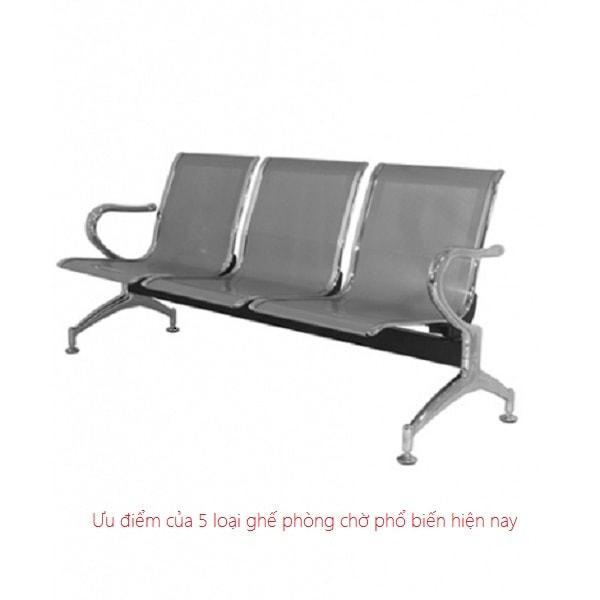 Ưu điểm của ghế phòng chờ inox là đồ bền và tính thẩm mỹ cao