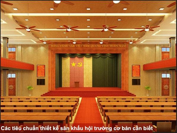 Các tiêu chuẩn thiết kế sân khấu hội trường cơ bản cần biết