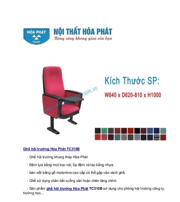 10 mẫu ghế hội trường Hòa Phát được ưa chuộng nhất 2017 (P1)