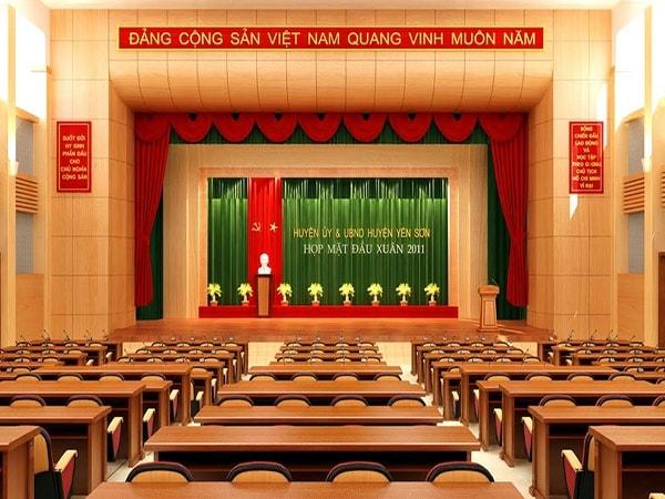 Nguyên tắc cơ bản khi bố trí sân khấu hội trường