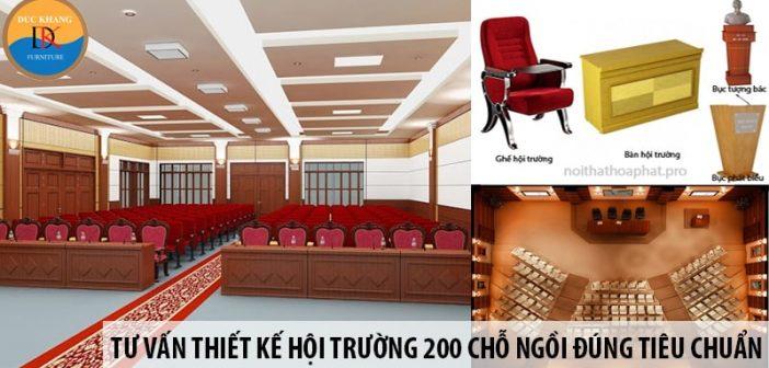 Tư vấn thiết kế hội trường 200 chỗ ngồi đúng tiêu chuẩn 1