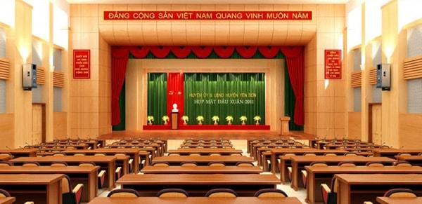 Mục đích của việc thiết kế sân khấu hội trường
