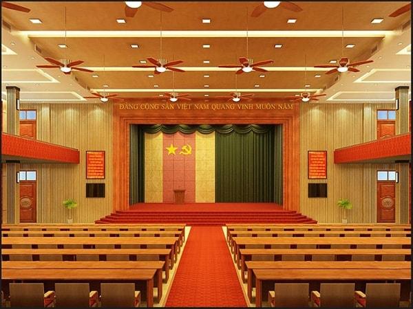 Các thông số cần nắm khi thiết kế sân khấu hội trường