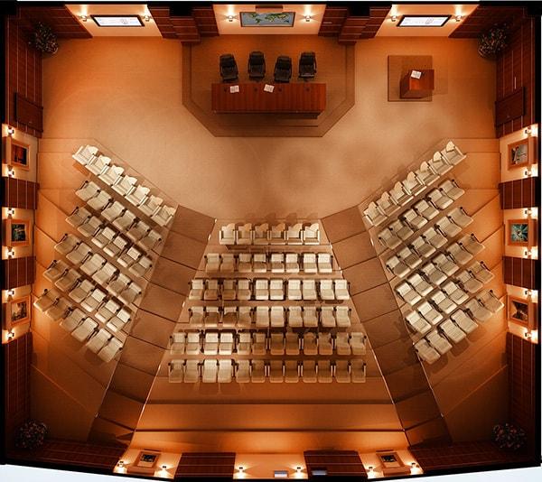 Thiết kế hệ thống âm thanh ánh sáng của hội trường 200 chỗ