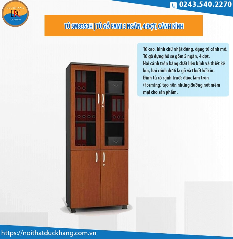 Tủ gỗ Fami SM8350H bề mặt Laminate