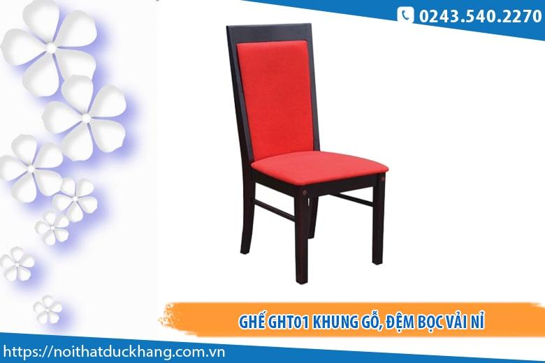 Mẫu ghế hội trường Hòa Phát GHT01 khung gỗ bọc vải nỉ