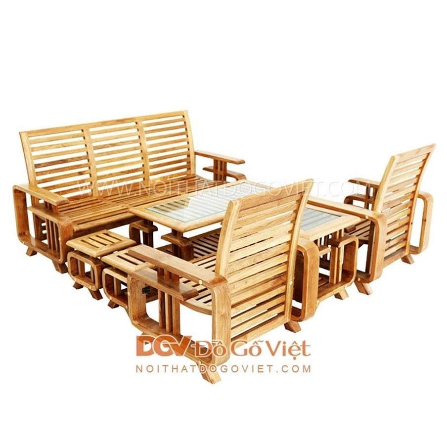 Bàn ghế gỗ có rất nhiều kiểu