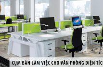 Các cụm bàn làm việc cho văn phòng diện tích 40m2