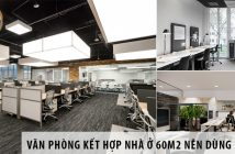 Thiết kế văn phòng kết hợp nhà ở 60m2 nên dùng bàn gì?